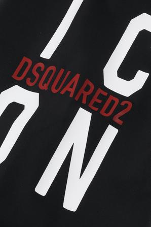 גילאי 4-16 בגד ים שלם Icon בשחור DSQUARED2 KIDS