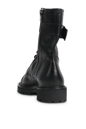 מגפי ג'ודי מעור עם רוכסן בגוון שחור IRO