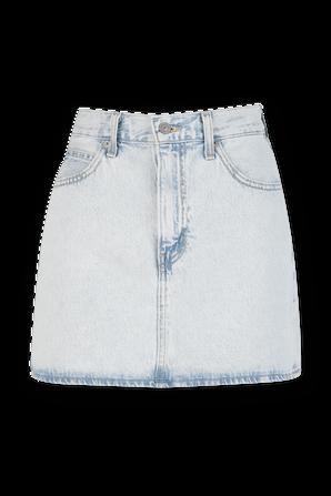 חצאית מיני שנות ה-70 בשטיפה בהירה LEVI`S