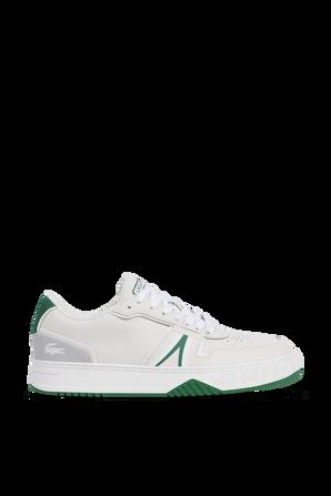 נעלי סניקרס עם לוגו בגווני ירוק ולבן LACOSTE