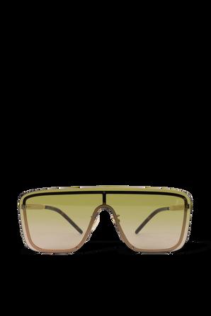 Shield Sunglasses in Light Gold SAINT LAURENT