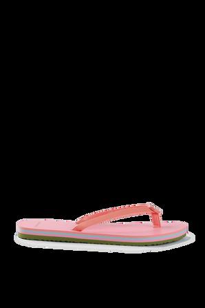 Mini Minnie Flip-Flop in Pink TORY BURCH