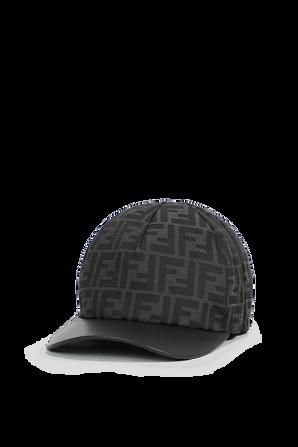 Reversible baseball Hat in Black FENDI