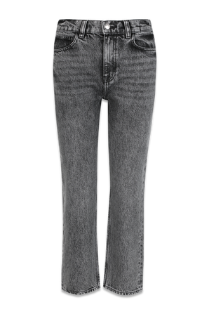Pavoli Washed Srtaight Leg Cropped Jeans In Grey IRO
