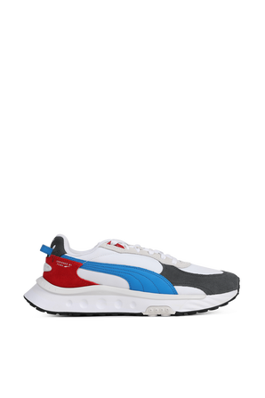 Wild Rider Rollin' Sneakers In White With Multicolor Details PUMA
