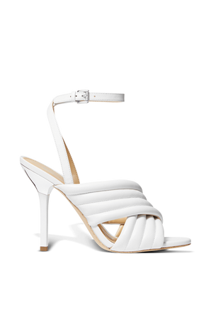 Royce Sandals in White Leather  MICHAEL KORS