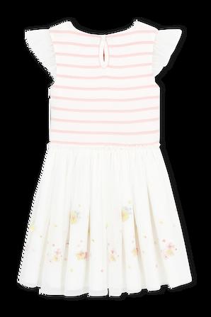 גילאי 6-12 שמלה קצרה שני הדפסים פסטליים PETIT BATEAU