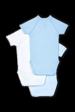 גילאי NB-12 חודשים בגזרת קימונו בגווני כחול ולבן PETIT BATEAU
