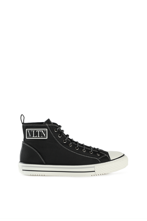 Giggies High-Top Fabric Sneakers in Black VALENTINO