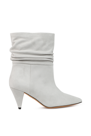 Theke Suede Ankle Boots in Whitea IRO
