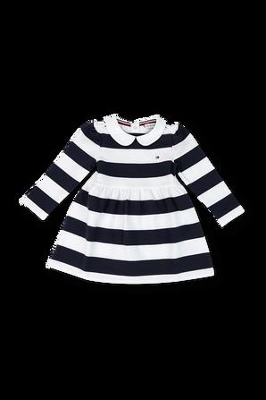 גילאי 3-24 חודשים שמלת פסים ארוכה TOMMY HILFIGER KIDS