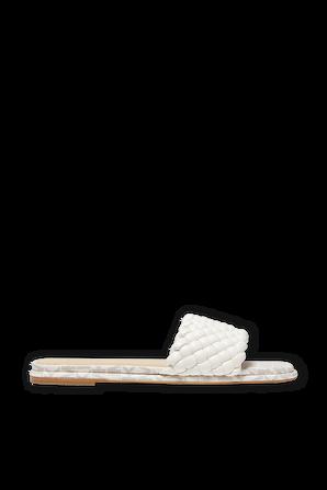 Amelia Braided Slide Sandal in Cream MICHAEL KORS