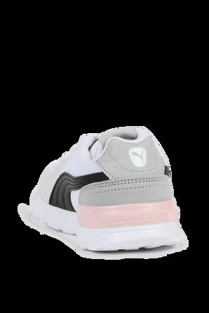 מידות 28-35 נעלי סניקרס בצבעי אפור ולבן PUMA KIDS
