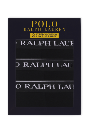 Low Rise Brief 3 Pack in Black POLO RALPH LAUREN