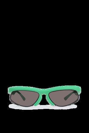 Half-Rim Sunglasses in Green BOTTEGA VENETA