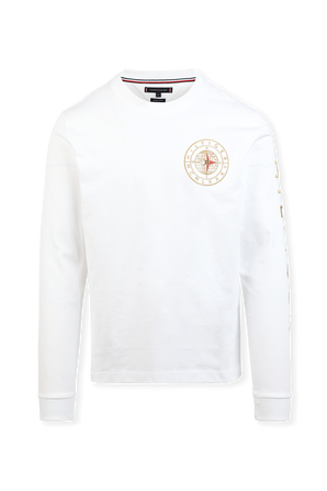 Icons Roundall Sweatshirt in White TOMMY HILFIGER