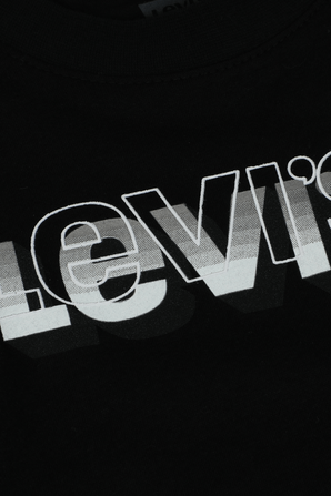 גילאי 5-7 חולצת לוגו מונוכרומטי בלבן LEVI`S KIDS