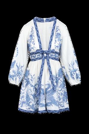 Aliane Blue Paisley Short Dress ZIMMERMANN