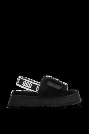 Fluff Disco Slides in Black UGG
