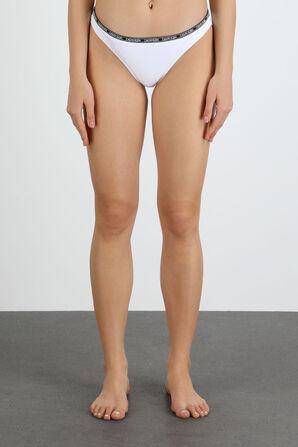 Brazilian Bikini Bottom in White CALVIN KLEIN