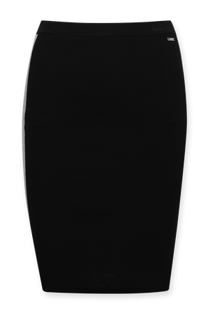 Pencil Silver Stripes Midi Skirt in Black ARMANI EXCHANGE