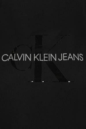 Tonal Monogram T Shirt in Black CALVIN KLEIN