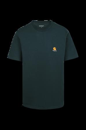 חולצת טי עם לוגו בצבע ירוק CARHARTT WIP