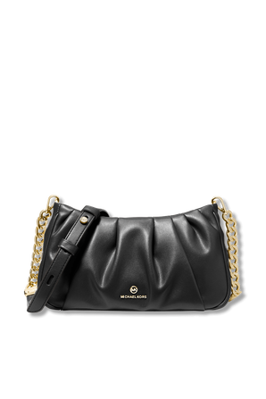 Hannah Small Pleated Convertible Clutch In Black MICHAEL KORS