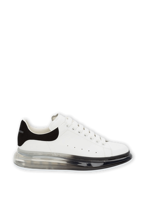 WHITE OVERSIZED SNEAKER WITH TRANSPARENT ALEXANDER MCQUEEN