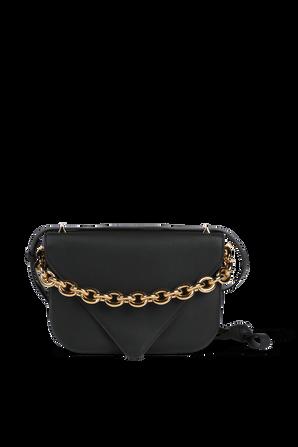 Medium Mount Leather Bag in Black BOTTEGA VENETA