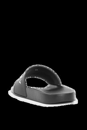 מידות 28-33 סליידרס לוגו בשחור GIVENCHY KIDS