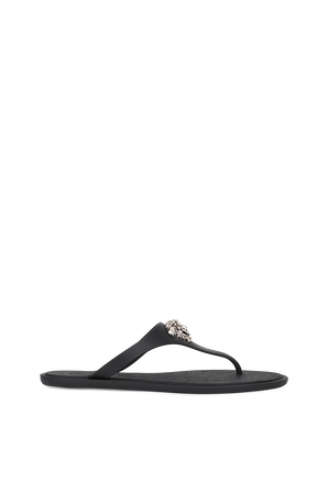 Meduza Palazzo Thong Sandals in Black VERSACE