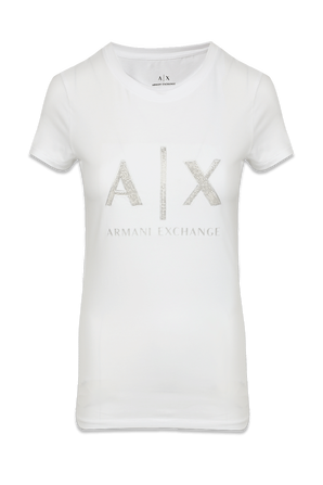 Icon Logo T-Shirt in White ARMANI EXCHANGE