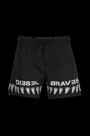Tiger Print Swimsuit in Black DIESEL