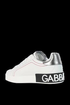 Portofino Logo Sneakers in White DOLCE & GABBANA