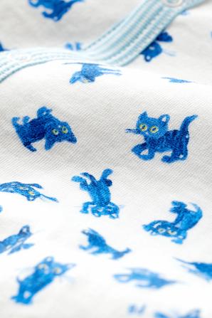 גילאי NB-12 חודשים בגד גוף ארוך בהדפס חתלתולים PETIT BATEAU