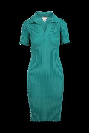 Wool Dress in Turquoise BOTTEGA VENETA