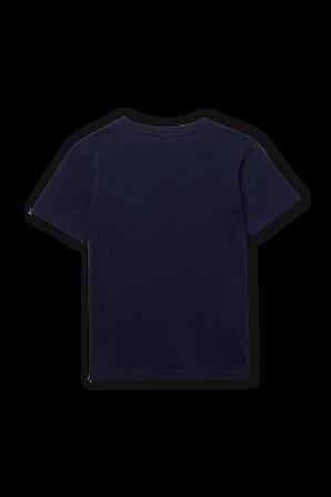 גילאי 2-12 חולצת טי בגוון נייבי עם פאץ' לוגו בחזה LACOSTE KIDS