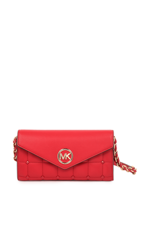 Wallet On Chain Crossbody Bag in Red MICHAEL KORS