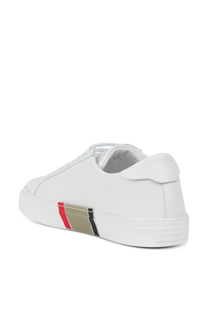 Rangelton Low Top Sneakers in White BURBERRY