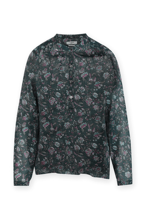 Maria Flower Print Shirt in Green and Pink ISABEL MARANT