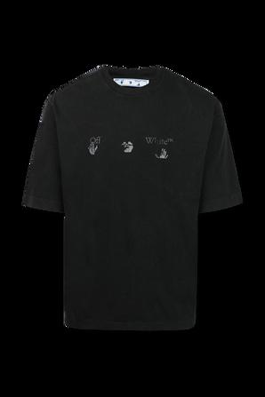 חולצה עם הדפס גרפי בצבע שחור OFF WHITE