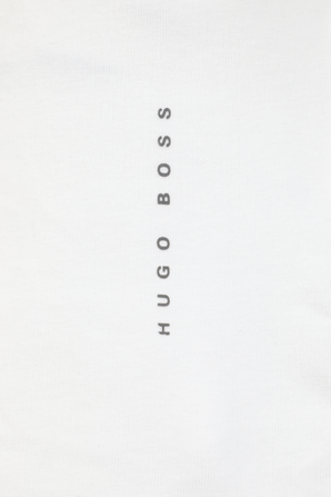 Slim-Fit Underwear T-Shirt With Vertical Logo in White BOSS