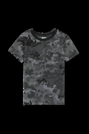 גילאי 4-14 חולצת טי בהדפס קמופלאז PUMA KIDS