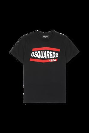 גילאי 4-16 חולצת לוגו DSQUARED2 KIDS