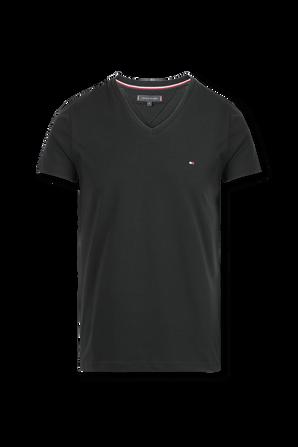 Strech Cotton V-Neck T-Shirt TOMMY HILFIGER