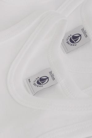 גילאי 1-18 חודשים מארז שני בגדי גוף גופיות בלבן PETIT BATEAU