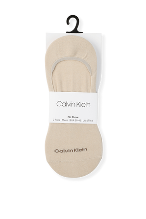 2P Sneaker Liner Socks in Off-White CALVIN KLEIN