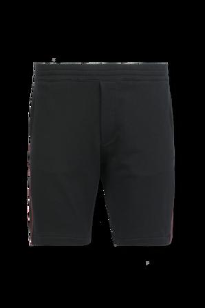 logo Tape Shorts in Black ALEXANDER MCQUEEN