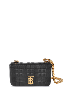 Quilted Mini Lola Shoulder Bag In Black BURBERRY
